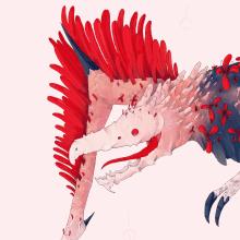 Serie 2 Criatura Floet 1: Sacliamthera. Un proyecto de Dibujo artístico, Ilustración e Ilustración digital de Alex Shagu - 30.12.2019