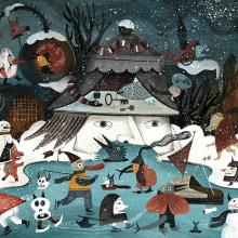 Calendario ilustrado. A Design, Illustration, Graphic Design, Digital illustration, and Watercolor Painting project by Flavia Z Drago - 12.31.2019