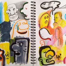 Mi Proyecto del curso: Técnicas de ilustración para desbloquear tu creatividad. Un proyecto de Ilustración, Bocetado y Creatividad de Esteban Candia - 31.12.2019
