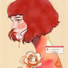 Hello 2020. Um projeto de Ilustração digital, Ilustração de retrato e Desenho de Retrato de Vrigit Smith - 08.01.2020