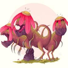 Serie 2 Criatura Floet 2: Floet Mauron. Un proyecto de Dibujo artístico, Ilustración e Ilustración digital de Alex Shagu - 11.01.2020