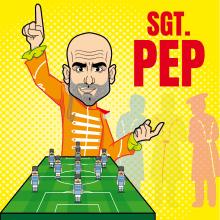 Sgt. Pep / Retrato satírico de Josep Guaridola. Un proyecto de Diseño gráfico, Dibujo e Ilustración digital de Eduardo Zúñiga Alva - 14.01.2020