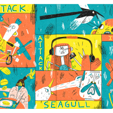 Bird Attack!. A Illustration project by Alfonso De Anda - 16.01.2020
