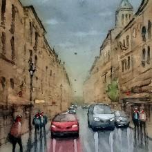 Mi Proyecto del curso: Paisajes urbanos en acuarela. A Aquarellmalerei project by Tadeu Banfi - 20.01.2020