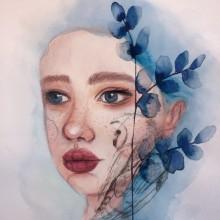 My project in Illustrated Portrait in Watercolor course. Un proyecto de Dibujo artístico de justjvp - 27.01.2020