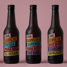 Una Cerveza (Packaging). A Verpackung, Cop und writing project by Vibranding - 27.01.2020