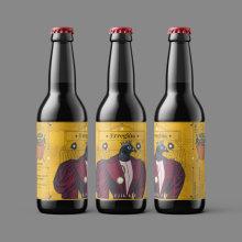 Packaging / Label / Erregiña / Cerveza Artesana. A Design, Illustration, Grafikdesign, Verpackung, Produktdesign, Collage, Produktion, Vektorillustration und Digitale Illustration project by Usui Benitesu - 27.01.2020
