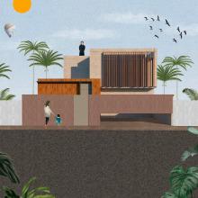 Mi Proyecto del curso: Representación gráfica de proyectos arquitectónicos. Un proyecto de Diseño, 3D, Arquitectura, Arquitectura de la información, Arquitectura interior, Collage, Arte urbano, Animación de personajes, Animación 2D, Concept Art, Arquitectura digital y Diseño 3D de Alejandro Pineda - 27.01.2020