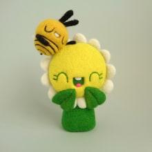 Daisy and Bee are more than just friends!. Un proyecto de Diseño de personajes, Artesanía, Bellas Artes, Escultura y Art to de droolwool - 04.02.2020