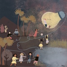Mi Proyecto del curso: Switch on the night de Ray Bradbury.. A Children's Illustration project by Paz Ramos Reyes - 02.05.2020