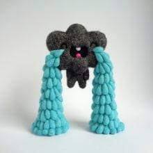 Cry Baby Cloud. Un proyecto de Diseño de personajes, Artesanía, Bellas Artes, Escultura y Art to de droolwool - 07.02.2020