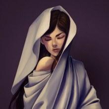 Chica en tela. Un proyecto de Ilustración, Ilustración digital, Ilustración de retrato y Dibujo de Retrato de Ursula Lopez Sorribes - 08.02.2020