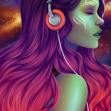Gamora. A Digitale Illustration project by Natália Dias - 13.02.2020
