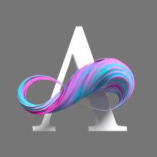 Abstract Alphabet. Un proyecto de 3D, Tipografía, Diseño 3D, Lettering 3D y Diseño tipográfico de Eduardo Fajardo - 17.02.2020