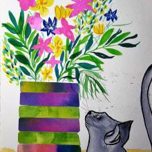 """"""" Mi imaginario"""" .Mi Proyecto del curso: Técnicas de ilustración para desbloquear tu creatividad. A Fine Art project by Loli Crespo - 02.17.2020"""