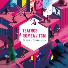 Teatros Romea / TCM. Enero-Junio 2020.. Um projeto de Design editorial, Design gráfico e Ilustração de ZRVK - 01.02.2020