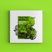 Teatro Bernal. Febrero - Junio 2020.. Um projeto de Ilustração, Publicidade, Design editorial, Design gráfico e Colagem de ZRVK - 01.02.2020