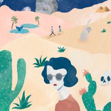 Fiesta en el desierto. Un proyecto de Ilustración de Laura Merens Vázquez - 21.02.2020