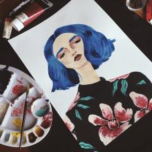 Retratos. Un proyecto de Diseño, Ilustración y Pintura de Laura Merens Vázquez - 21.02.2020