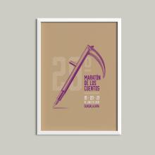 Maratón de los cuentos. Un proyecto de Diseño gráfico e Ilustración digital de Artídoto Estudio - 24.02.2020