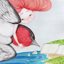 Pulgarcita - Introducción a la ilustración infantil. A Illustration, and Children's Illustration project by Jade Monica Bello - 02.25.2020