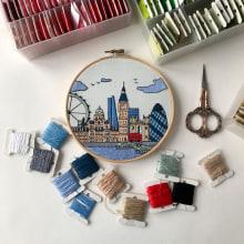 London hand embroidery. Un progetto di Ricamo di Kseniia Guseva - 28.02.2020