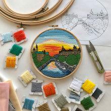 Ottawa, Canada hand embroidery. Un progetto di Ricamo di Kseniia Guseva - 28.02.2020
