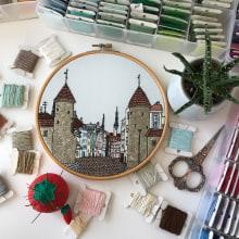 Tallinn hand embroidery. Un progetto di Ricamo di Kseniia Guseva - 28.02.2020