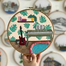 Music room embroidery. Un progetto di Ricamo di Kseniia Guseva - 28.02.2020