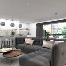 Visualización arquitectónica 3D: proyectos residenciales. Um projeto de 3D, Arquitetura de interiores, Design de interiores, Modelagem 3D, Decoração de interiores, 3D Design e Interiores de Alexandra Proaño Gonzales - 03.03.2020
