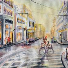 Mi Proyecto del curso: Paisajes urbanos en acuarela. A Fine Art, Painting, and Watercolor Painting project by Lelia Fabiana Perez - 03.08.2020
