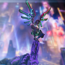 Shariel - Cyberpunk angel. Un projet de 3D, Jeux video , et Conception de personnages 3D de Francisco Alvarez Mendez - 20.06.2019