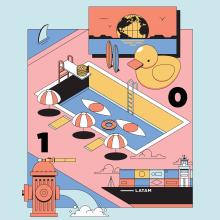 GQ México y LATAM - Marzo 2020. Un progetto di Illustrazione, Illustrazione vettoriale e Illustrazione digitale di Jorsh Peña - 18.03.2020