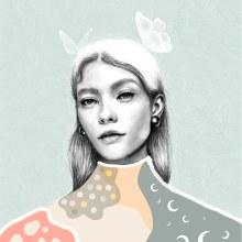 Mi Proyecto del curso: Retrato con lápiz, técnicas de color y Photoshop. Um projeto de Ilustração, Criatividade, Ilustração de retrato e Desenho de Retrato de Sofía Gregorio - 19.03.2020