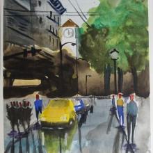 Meu projeto do curso: Paisagens urbanas em aquarela. Un proyecto de Arte urbano y Pintura a la acuarela de Francisco Albuquerque - 23.03.2020