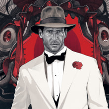 """""""ANYTHING GOES"""" Indiana Jones and The Temple of Doom. Um projeto de Design, Ilustração e Cinema, Vídeo e TV de Dani Blázquez - 24.01.2014"""