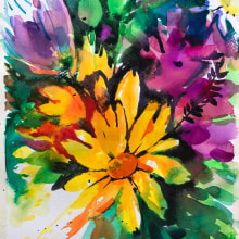 Watercolor. Free and expressive. A Fine Art, Painting, Creativit, Pencil drawing, Drawing, Watercolor Painting, and Artistic drawing project by Inna Pavlecka-Tumarkin - 03.28.2020