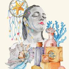 Aromas Mi Proyecto del curso: Ilustración comercial con lápices de colores. A Illustration project by Loli Crespo - 03.29.2020