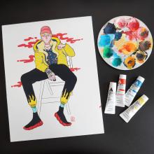 Experimento con Gouache. A Illustration, Malerei, Porträtillustration und Brush Painting project by Mónica Lemus - 29.03.2020