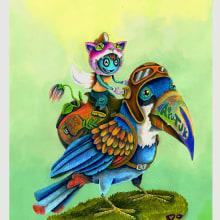 AeroTUK. A Illustration, Art Direction, Fine Art, Children's Illustration, Acr, and lic Painting project by Camilo Ducuara Gordillo - 03.31.2020