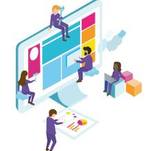 Ilustraciones vectoriales para sitios web. Un proyecto de Ilustración digital de Rocio Perez - 31.03.2020