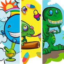 Animafiesta!. Un proyecto de Ilustración, Diseño de personajes, Ilustración vectorial e Ilustración digital de Anabel Najar Colom - 01.04.2020