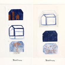Cada casa es como quien la habita . Um projeto de Ilustração, Estampagem, Concept Art e Bordado de Marisol Ormanns - 01.04.2020