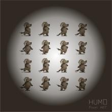 HUMO Pixel ART. Un proyecto de Diseño de personajes, Ilustración y Pixel art de Alejandro Mazuelas Kamiruaga - 01.04.2020
