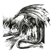 Dragón en pincel y plumilla. Un progetto di Disegno di Soledad Martínez - 03.04.2020