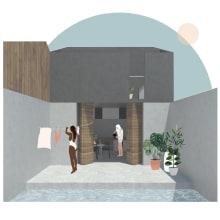 Mi Proyecto del curso: Representación gráfica de proyectos arquitectónicos. Un proyecto de Diseño gráfico de natalia.moskalik - 04.04.2020