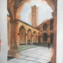Mi Proyecto del curso: Dibujo arquitectónico con acuarela y tinta. Un proyecto de Arquitectura de Adrián Exeni - 04.04.2020