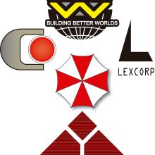 Evil Corporation logos. Un proyecto de Cine, vídeo, televisión, Diseño gráfico, Ilustración vectorial, Diseño de carteles, Diseño de logotipos, Ilustración digital, Concept Art y Diseño digital de Luis Fernando Medina Llorenti - 06.04.2020