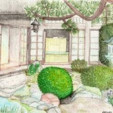 Mi Proyecto del curso: Ilustración en acuarela con influencia japonesa. Un proyecto de Dibujo y Pintura a la acuarela de Daniela Hugo - 07.04.2020