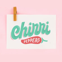 Chirri Peppers Logo redisign. Un proyecto de Br, ing e Identidad, Lettering, Diseño de logotipos, H y lettering de Caro Marando - 07.04.2020